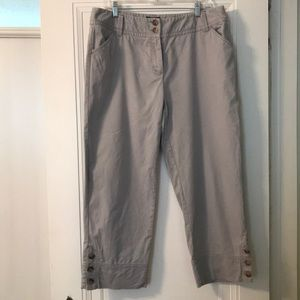 Cropped khakis with button detail